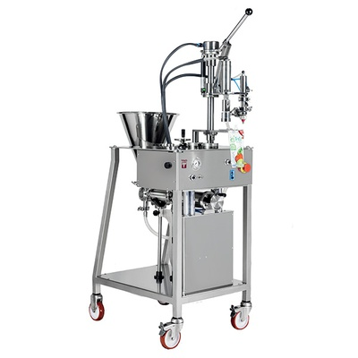 Manual filling/capping machine for spouted pouches