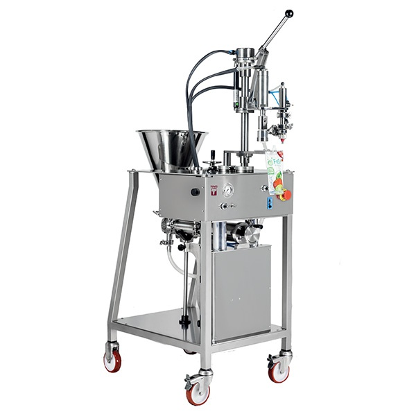 Filling-capping machine for spouted pouches