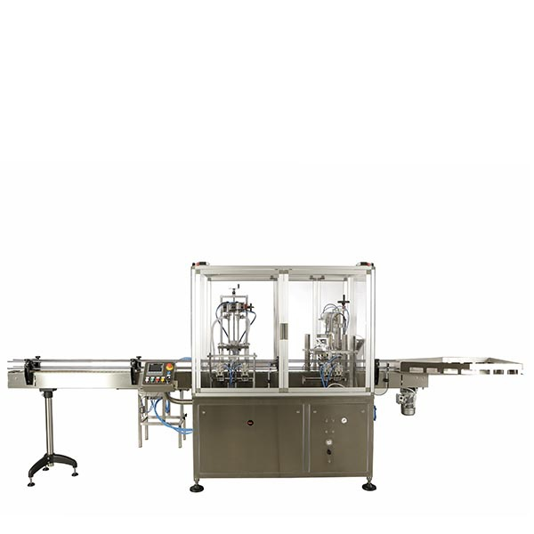 2-head dosing line for pharmaceutical liquid products