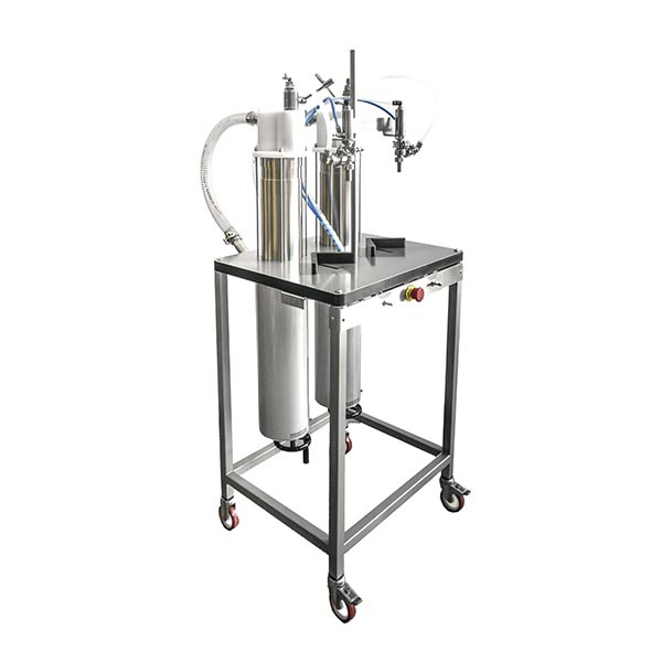 Our vertical dosing machine with stainless steel cylinders
