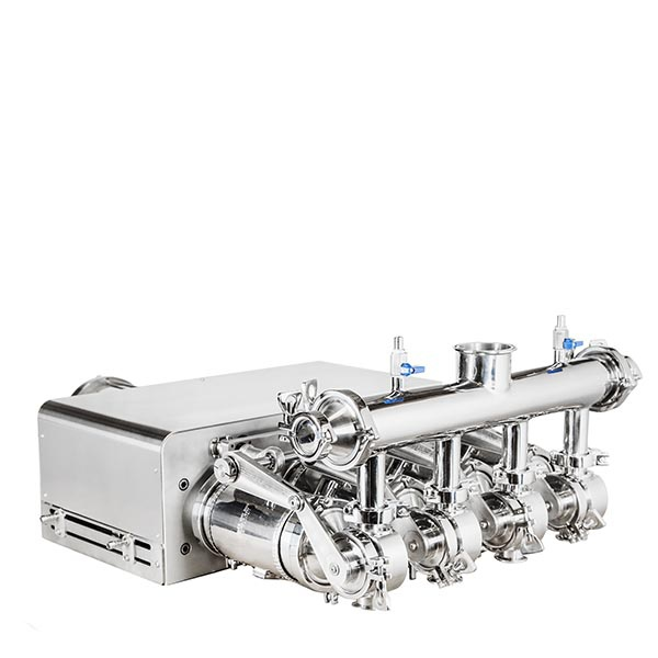 Four-head dosing unit with rotary valves for honey